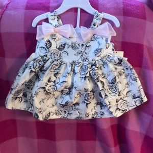 White rose and butterfly dress